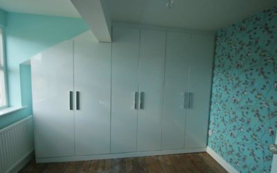 White Gloss Slab Door